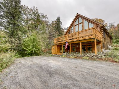 Photo for NEW LISTING! Spacious wooden home w/table tennis awesome views & furnished deck!