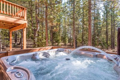 Hot Tub - Soak your cares away in the jetted hot tub.