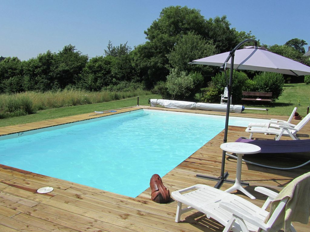 Detached Holiday Home With Private Swimming Pool And Sauna Near Quimperl In Brittany Mellac