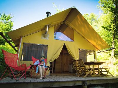Photo for Camping Bivouac Nature - Canvas hut 3 Rooms 5 People
