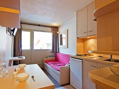 Photo for One bedroom Apartment, sleeps 3 in Val Thorens with WiFi