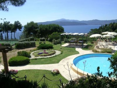 Photo for Capoliveri center with Parking; pool and Tennis near the beach
