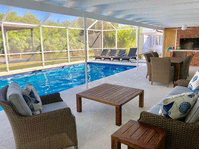 Photo for Fantastic Waterfront Home With Heated Pool And Covered Dock