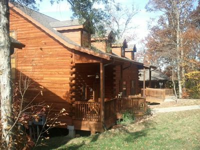 Side view of our cabin. We have a private entrance.