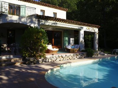Photo for Beautiful villa close to Valbonne village in quiet and well looked after domain.