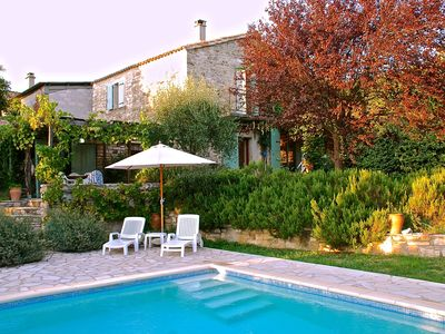 Photo for Charming stone house near Uzès 4 bedrooms,2 bathrooms,heated pool,garden & Wifi