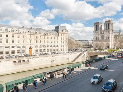 Photo for Seine River and Notre Cathedral Views + Free River Cruise
