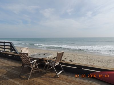 Photo for Malibu Beach Home On Private Beach Right On The Sand.