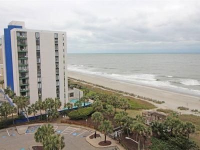 Photo for 1BR-1BA On the beach- GR8 Ocean and Beach View from balcony.