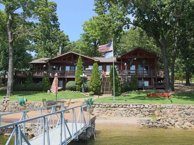 Photo for Beautiful 7 Bed, 6 Bath, Huge Dock, Boat Launch @ House, Game Room, Kid Friendly
