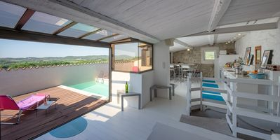 Roof terrace and summer kitchen