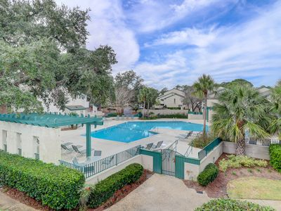 Photo for New Listing!! Updated Luxury 3 BR Sea Pines Townhome Pool Views Walk to Harbourtown