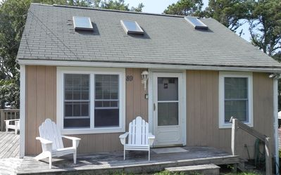 Photo for Quiet-off street cottage, large yard, private beach access, WI FI, AC