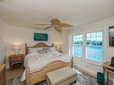 Photo for BEAUTIFUL WATERFRONT LUXURY Condo - Boat Dock - Walk to Siesta Key Beach!!