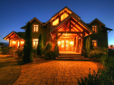 Photo for 5BR Luxury Mtn Home, Views, 2 King Suites, Hot Tub, Fire Pit, Convenient Location!