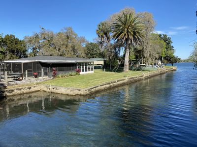 View from bridge of our home and easy access to King's Bay and the Crystal River