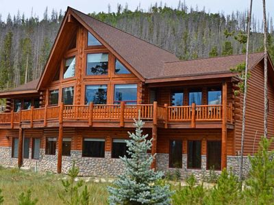 Photo for Luxury Log Cabin At Base Of Rocky Mountain National Park