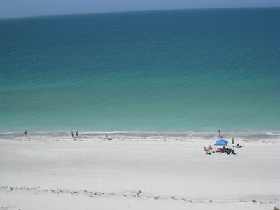 Gulf of Mexico. Beach just across the street