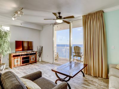 Photo for Spacious gulf-front condo near Pier Park w/ hot tubs, pools & beach service!