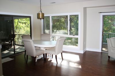 Bright and open dining area.