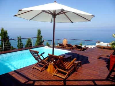 Photo for Breathtaking front sea property, beach at 400 m, near Fiscardo