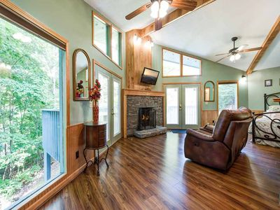 Photo for Woodsong, 1 Bedroom, Sleeps 2, Hot Tub, Wood Fireplace, Pet Friendly