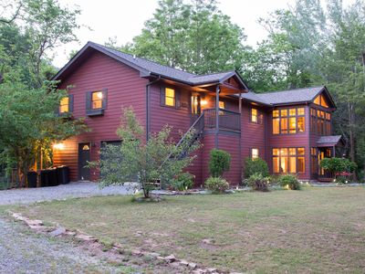 Dog-friendly riverfront home w/ two decks, fireplace & enclosed porches!