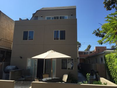 Photo for The Mission Beach Get Away, with large roof top deck family friendly with AC.