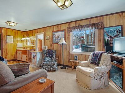 Photo for NEW LISTING! Cozy 90-year-old cabin frequented by wildlife near shopping, dining