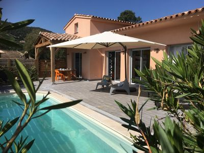Photo for NEW VILLA, SLEEPING 8, PRIVATE POOL 300m FROM THE BEACH FACILITIES P. M.R.