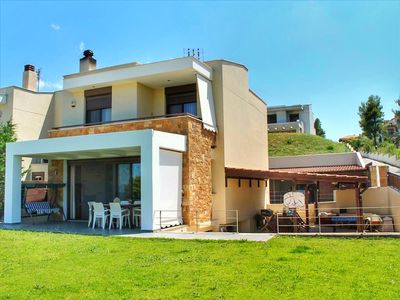 Photo for Villa Rossa - Deluxe 250m2, Garden,  BBQ, Amazing Sea View