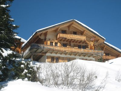 Photo for Family friendly chalet. Portes du Soleil Champoussin. Ski in / out. Switzerland