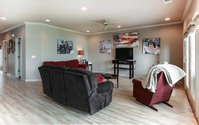 Large living area is perfect for family gatherings.
