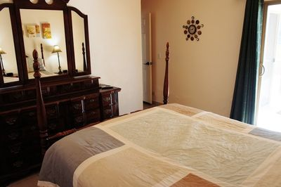 Guest bedroom on first level