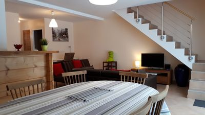 Photo for Duplex 6-8 people of 95 m2 in the heart of Haut Jura (39).