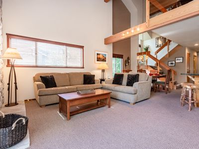 Photo for Newly remodeled corner condo on golf course with hot tub access and mountain views