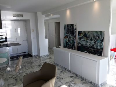 Photo for Cannes apartment with panoramic sea view 2-4 near the beaches of Midi