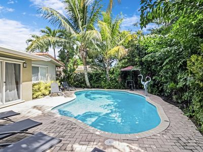 Photo for Beautiful mid-century recently remodeled, includes private  saltwater pool