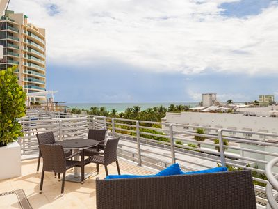 Photo for Luxury Ocean View Penthouse Private Roof Jacuzzi, Steps to Beach and Lincoln Rd