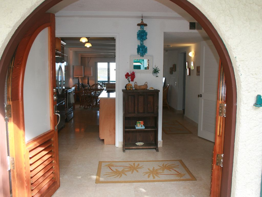 Entrance welcome to Ocean View Condo & Beautiful Gated Community on a Semi Private... - HomeAway Estate ...
