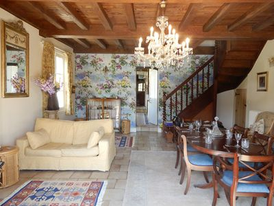Photo for NEW Spacious villa with huge private pool, own woods & field