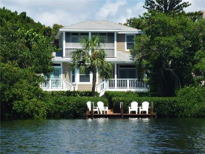 Photo for Siesta Key 4 bedroom waterfront vacation rental house with private pool