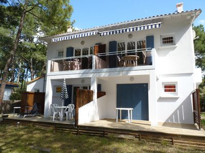 Photo for Studio 150m from the sea with balcony (parking & free wifi) in private park