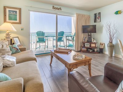 Photo for 4th Floor Spacious Gulf Front Condo w/ Beach Service Included, Near Dining