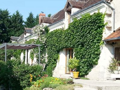 Photo for Spacious,charming stone farmhouse with modern amenities and pool in Loire Valley