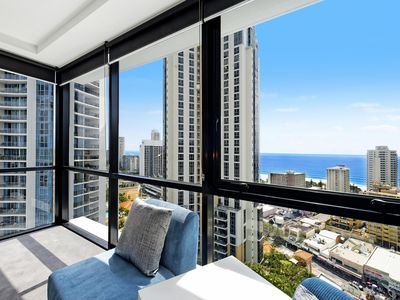 Photo for Circle on Cavill - 3 Bedroom Ocean - 7 Night - 2201 - Ocean view apartment good for 8 pax