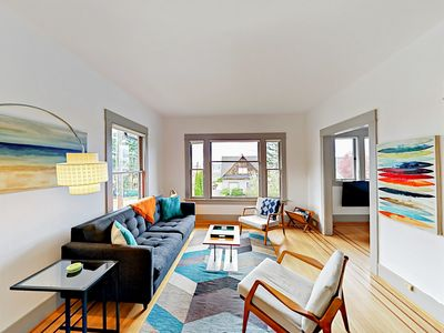 Photo for Contemporary 2BR Queen Anne Home with Vintage Charm & Olympic Mountain  Views