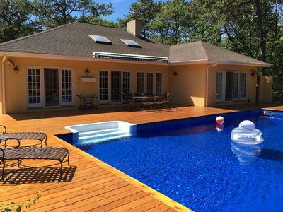 Photo for Luxury Hamptons Vacation Home With Heated Pool, Hot Tub & Brand New Tennis Court