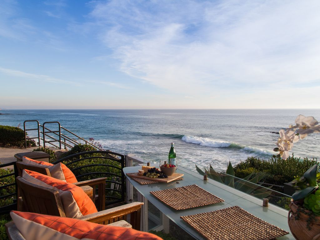 Spectacular ocean view beach steps in front of villa - Maison d architecte orange county californie ...