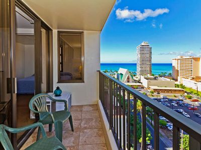 Photo for BEST VALUE WAIKIKI BANYAN OCEANVIEW UNIT $135 a night!!- FREE PARKING, WIFI,